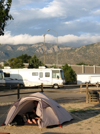 Au KOA Campground de Albuquerque